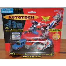 Autotech Fold & Snap System Crusher Touch Trucks Set Cars Ford Chevy BNIB Toys