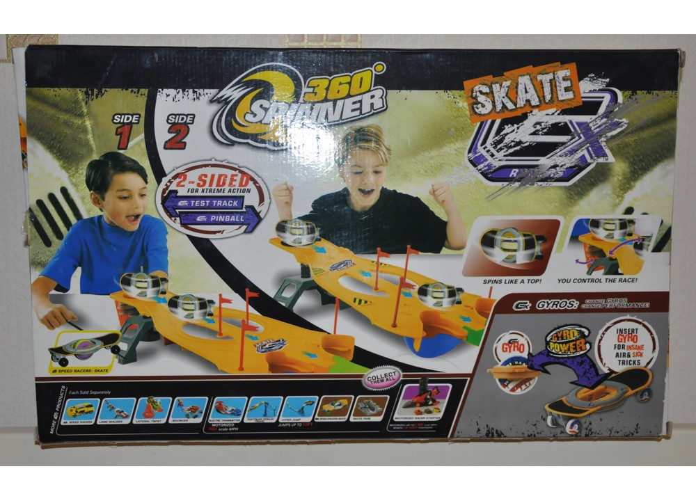 GX Racers Skate 360 Spinner Playset No S611A Complete Boxed Instructions