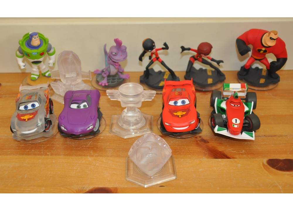 Disney Infinity Incredible Cars Buzz Lightyear Randall Crystal Cube Sets Bundle