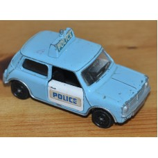 Dinky Toys Mini Clubman Police Car Vintage Diecast Metal Model Kids Toy Car