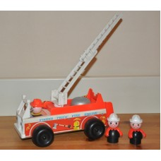 Vintage Fire Engine 720 1968 Fisher Price With 2 Firefighters Bundle Kids Toy
