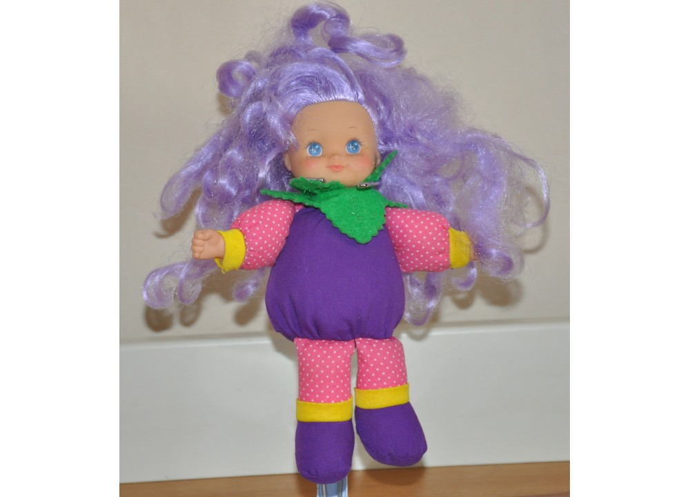 Vintage 1994 Cititoy Small Soft Bodied Purple Haired Strawberry Doll Kids Toy