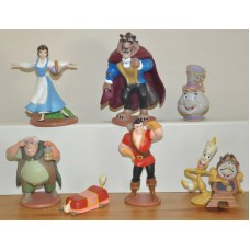 Disney Beauty Beast Lumière Cogsworth Mrs Potts Gaston Footstool Maurice Figures