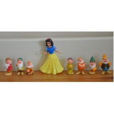 Disney Snow White & The Seven Dwarfs Figurines Figures Bundle Kids Toys