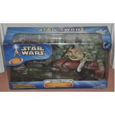 Star Wars Princess Leia on Speeder Bike Endor Forest Chase Nver Used Boxed Toys