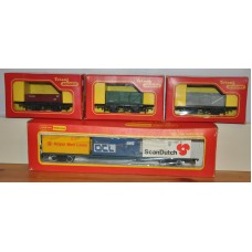 Bundle of Hornby TriAng R204 R10 R113 R243 Wagon Model Trains Rolling Stock OO Gauge