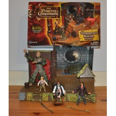 Disney Pirates of Caribbean At Worlds End Singapore Battle Playset Figures Toys